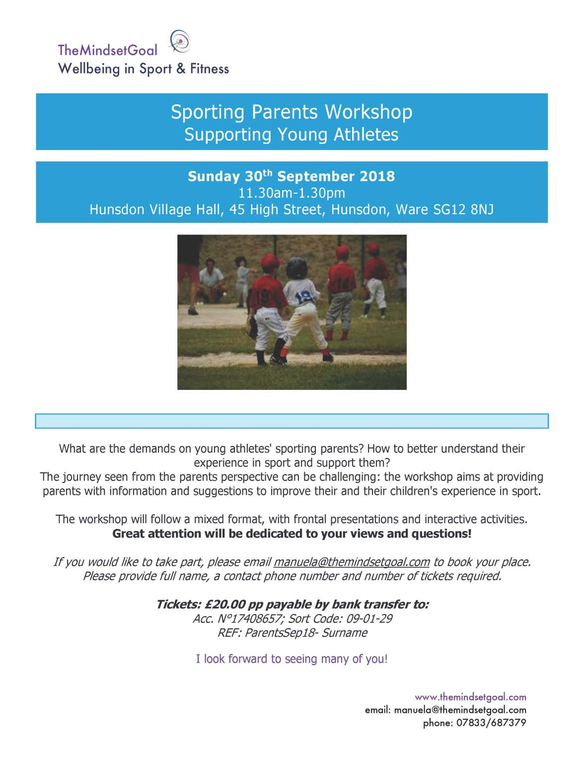 Sporting Parents Workshop 30-9-18